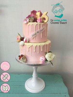 2 laags dripcake roze