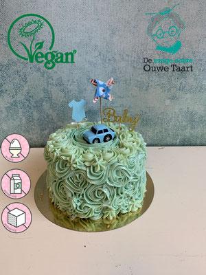 Koemelkvrij, suikervrije en ei vrije babyshower taart