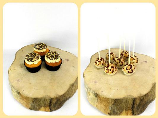 Panterprint cakepops en cupcakes