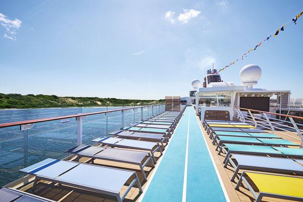 Laufstrecke & Sport auf der MeinSchiff 1, von TUI Cruises
