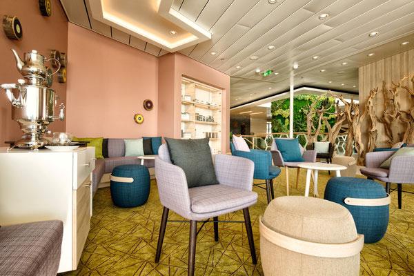 Grüne Oase, Wellness Bereich, Spa Bereich auf der Mein Schiff 4 von TUI Cruises