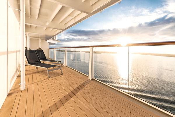 Deine Verandakabine, Balkonkabine auf der MeinSchiff 2, von TUI Cruises