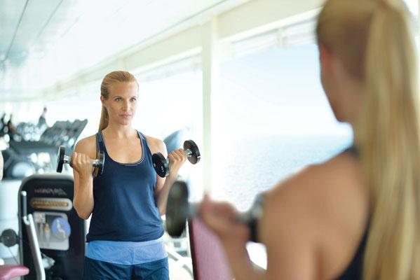 Sport & Fitness auf der MeinSchiff 2, von TUI Cruises