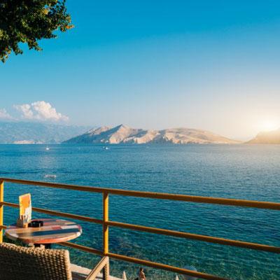 Ausblick auf die Kvarner Bucht. Erlebe Deinen exklusiven Urlaub in Kroatien! In Deiner Reiserei, Reisebüro in Berlin & Brandenburg