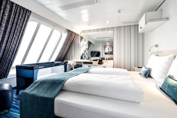 Kabine auf der MeinSchiff 1, von TUI Cruises