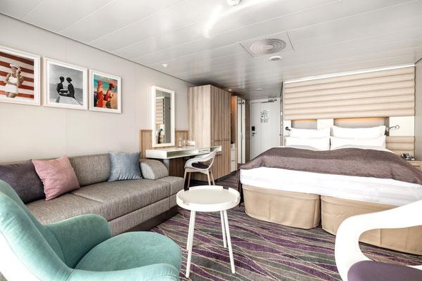 Kabine, Suite auf der MeinSchiff 1, von TUI Cruises