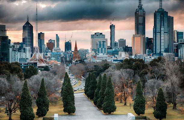 Überblick auf Melbourne