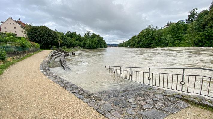 Hochwasser Rhein - Laufenburg 15.07.2021. (Foto CC)