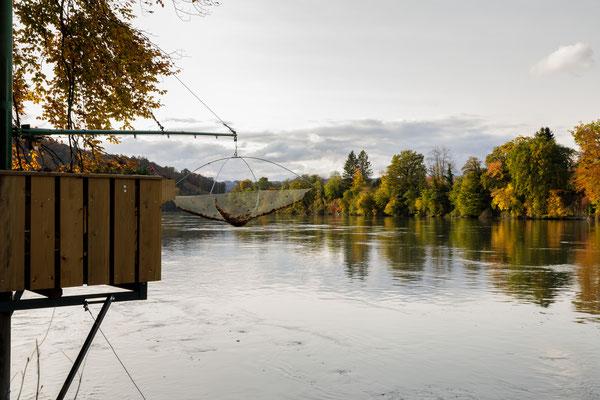 Fischergalgen bei Rheinsulz (Foto PC)