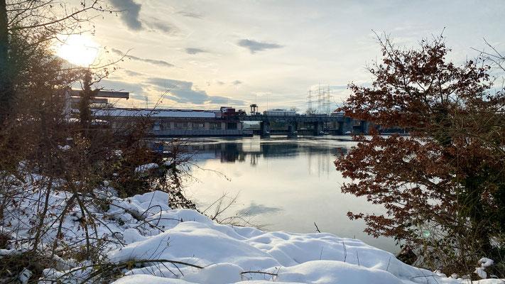 Kraftwerk Laufenburg, 20.01.2021. (Foto CC)