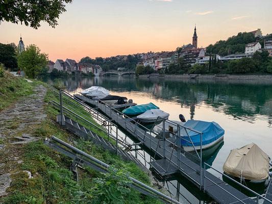 Der Bootssteg der Fischerzunft bei Laufenburg. (Foto PC)
