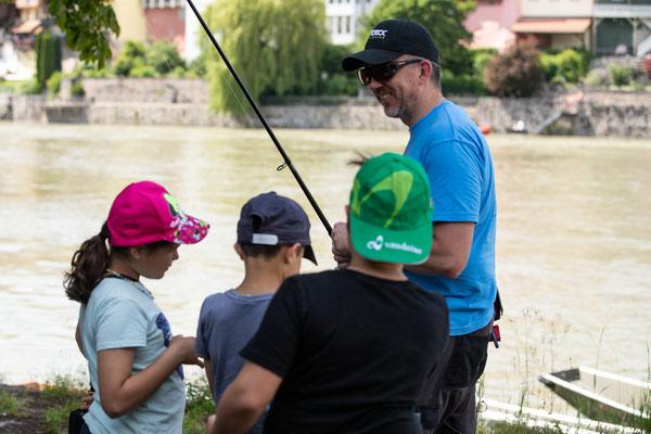 Jungfischer-Schnuppernachmittag der Fischerzunft Laufenburg, 26. Juni 2021. (Foto CC)