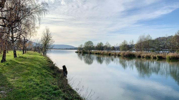 Idyllischer Rhein bei Full. (Foto PC)