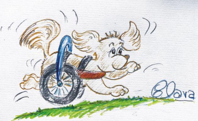 Cartoon Rolli Hund