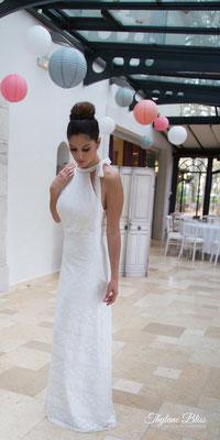 Robe de mariée Adèle -  entièrement en dentelle de coton