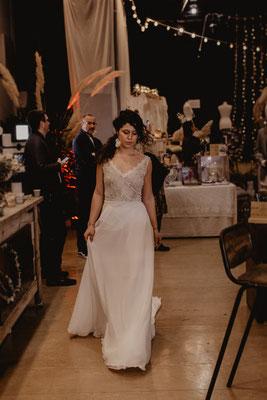 robe de mariée bohème chic mousseline