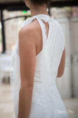 robe de mariée dentelle, emmanchure américaine
