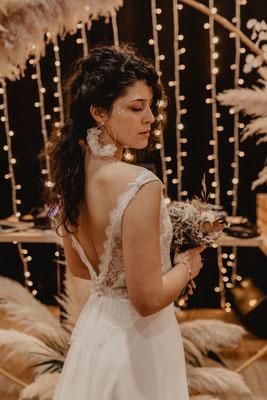 robe de mariée bohème chic dos nue