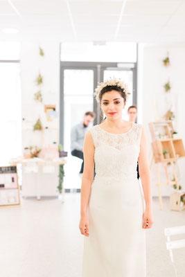 Robe de mariée bustier et dentelle