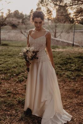 robe de mariée vintage soie et dentelle