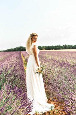 robe de mariée romantique mousseline