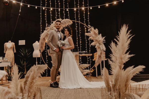 robe de mariée fluide avec traine