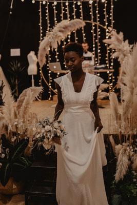 robe de mariée romantique mousseline plumetis