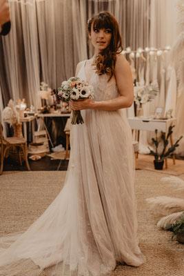 robe de mariée romantique tulle et dentelle