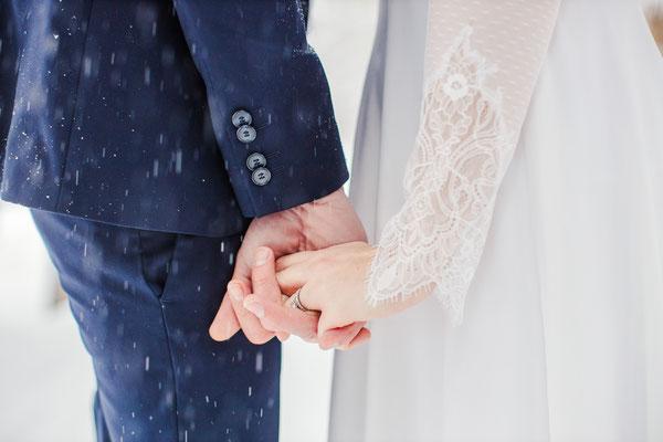 robe de mariée d'hiver romantique chic, plumetis et dentelle