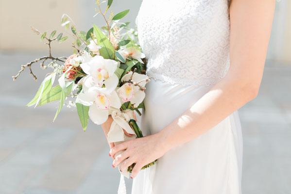Robe de mariée romantique dentelle et satin de soie