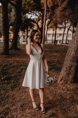 robe de mariée civil romantique légère jupe patineuse