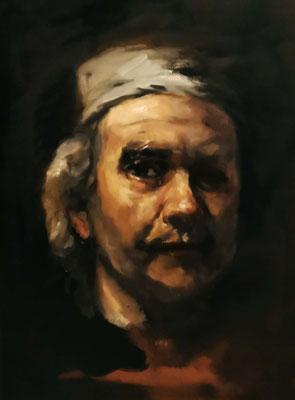 Altmeisterliche Technik fertig gestellte Kopie Rembrandt