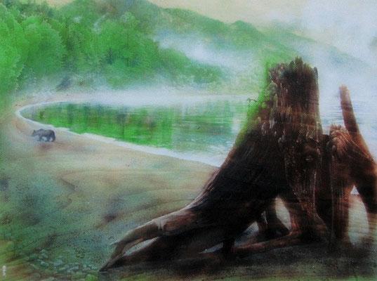 湖畔の番人 -雨上がり