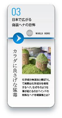 日本で広がる 偽装ヘナの恐怖