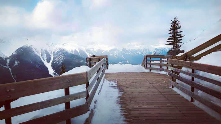 Photo de paysage; Banff Gondola, Parc national Banff, Parcs Canada, Alberta; 2018; photo voyage personnel; rôle: photographie, travail postproduction.