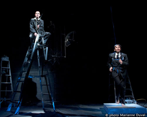 Marie-Eve Fortier, Marc-André Charette  - Laboratoire Gestes - Théâtre du Trillium – Nouvelle Scène - Photo Marianne Duval