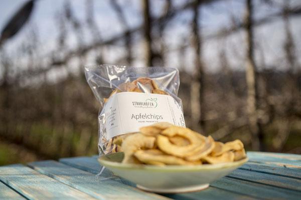 Ein gesunder Snack für zwischendurch? Das sind unsere Apfelchips.