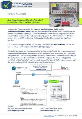 Live-Streaming zum Testlabor / Nürnberg > Karlsruhe