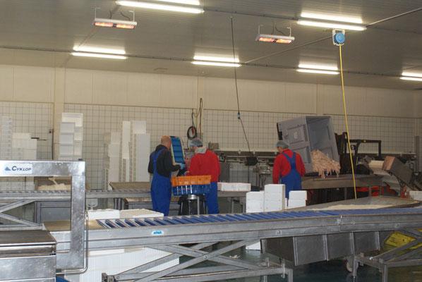 Deckenheizung am Arbeitsplatz
