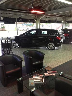 Heizung für Verkaufsraum im Autohaus