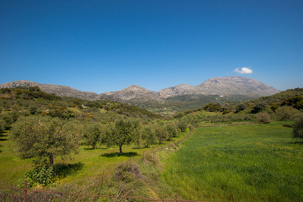 Landschap nabij Spili, Kreta, Griekenland