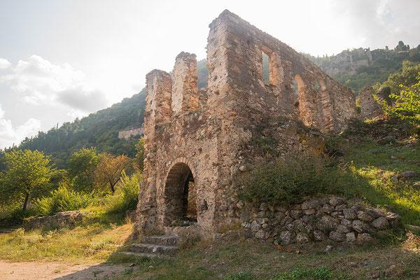 Byzantijnse nederzetting Mystras, Peloponnesos, Griekenland
