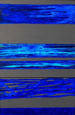 """""""reflektionen"""" 6o/9o cm (dyptichon) mixed media auf leinwand"""