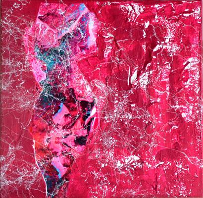 """pink flower"" 3o/3o cm ilona krause-könig"