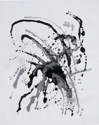 """spacespider"" 8o/1oo cm mixed media auf leinwand"