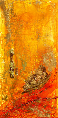 """goldener Oman""  50/100 cm"
