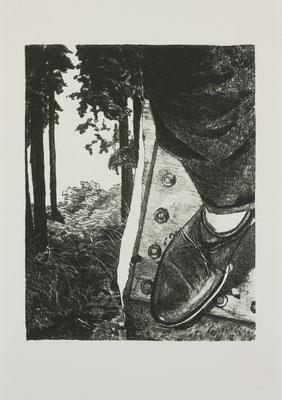 PAGE#13_足元  2017 170×210mm 紙に石版画