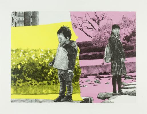PAGE#6_少年と少女 2016 395×540mm 紙にリトグラフ ed.3