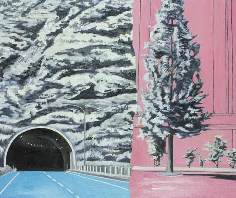 PAGE_木と木 / 2016 / 530×455mm / 油絵の具、キャンバス