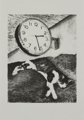 PAGE#17_P.M2:37  2017 170×210mm 紙に石版画